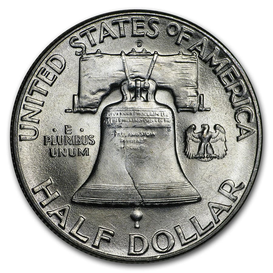 1948-D Franklin Half Dollar 20-Coin Roll BU