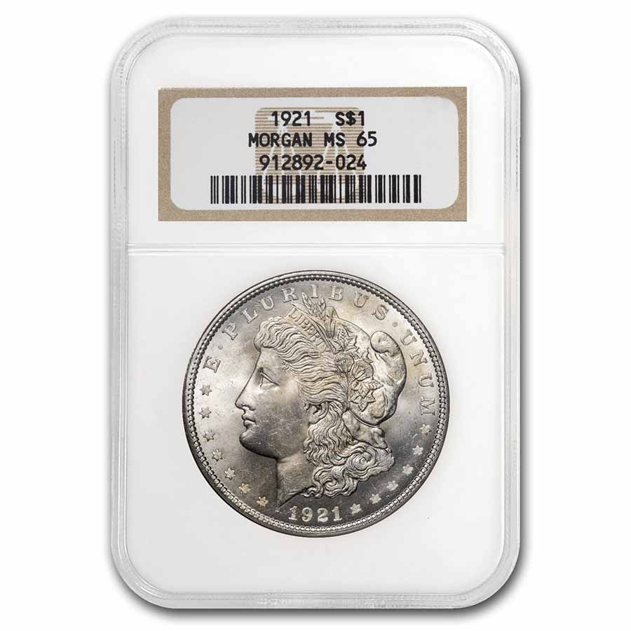 1921 Morgan Dollar - MS-65 NGC