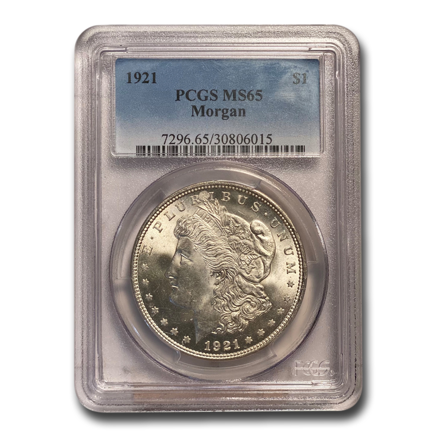 1921 Morgan Dollar MS-65 PCGS