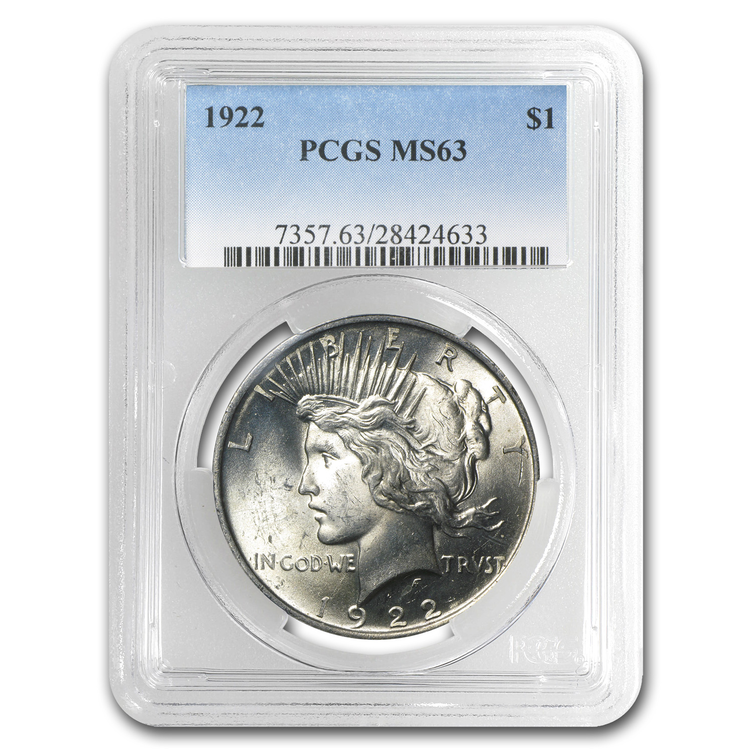 1922 Peace Dollar MS-63 PCGS