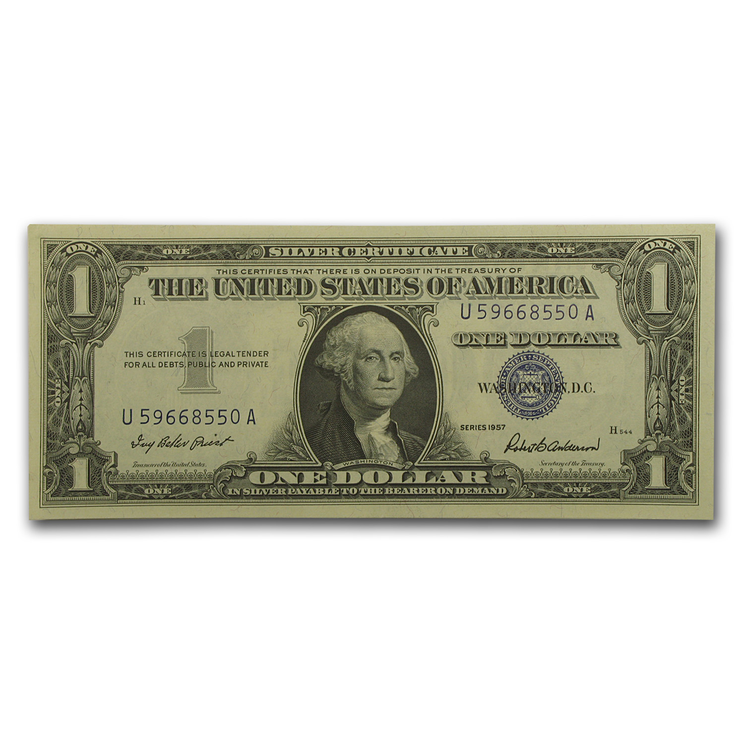 1957's $1 Silver Certificates - Crisp Uncirculated
