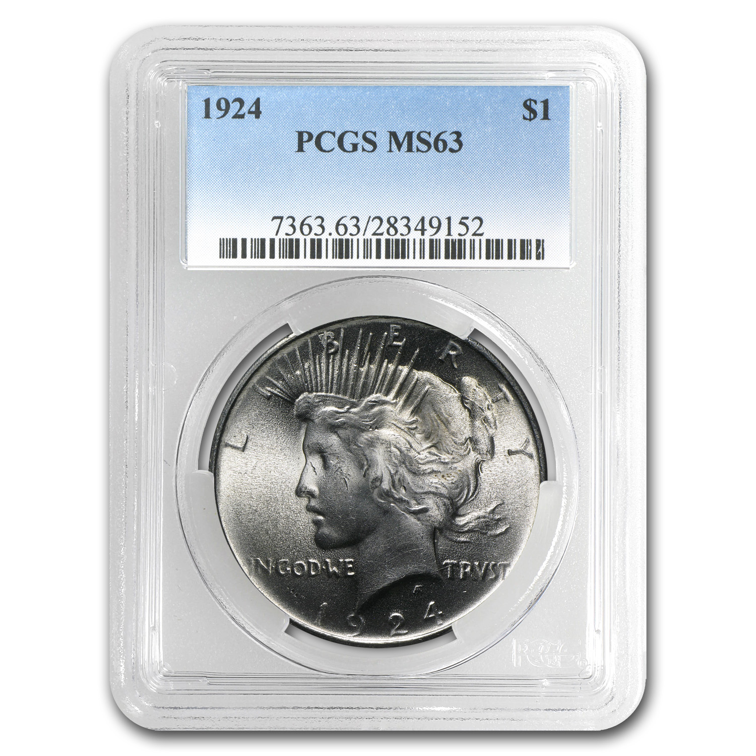 1924 Peace Dollar MS-63 PCGS