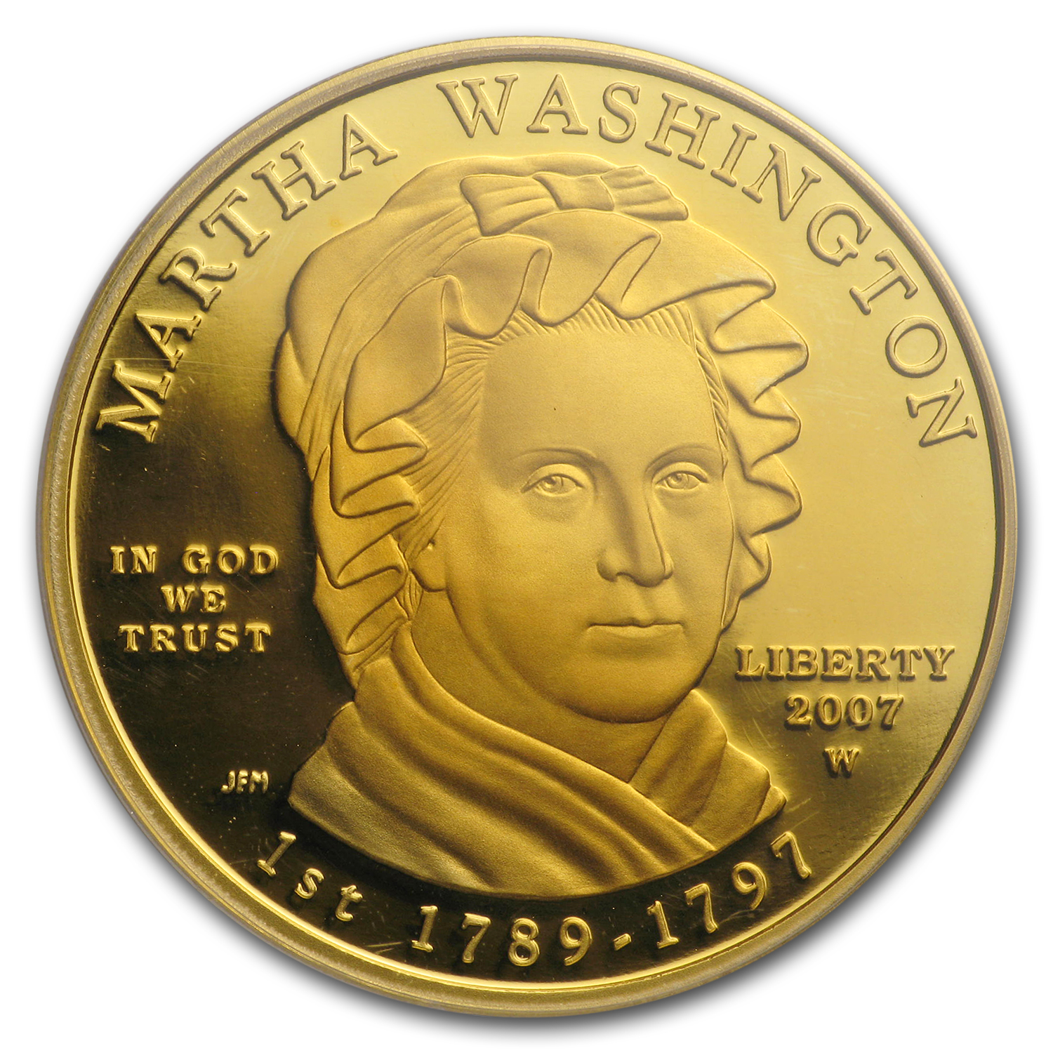 2007-W 1/2 oz Proof Gold Martha Washington PR-70 DCAM PCGS