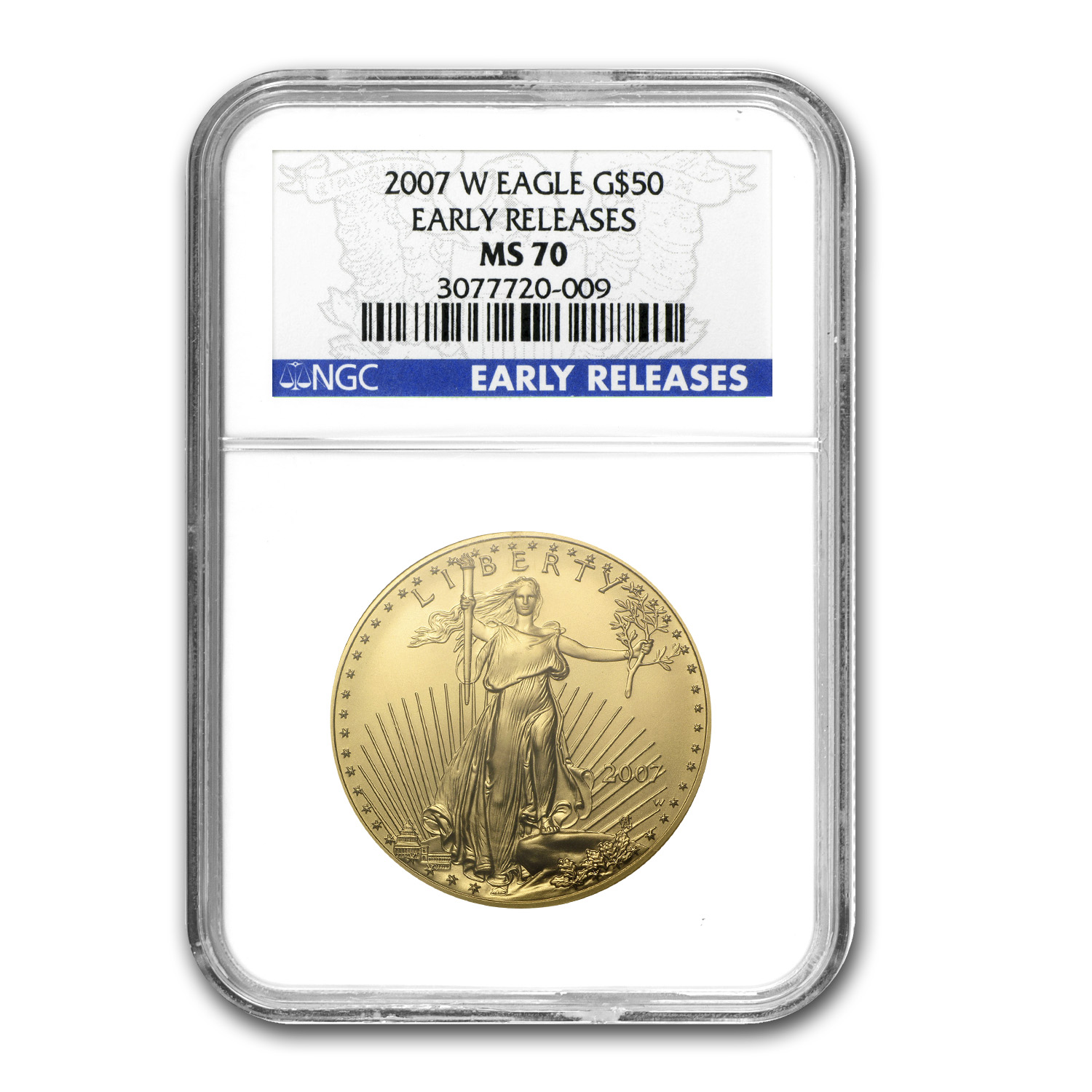 2007-W 1 oz Burnished Gold Eagle MS-70 NGC (ER)
