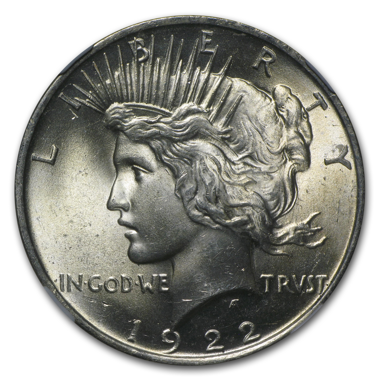 1922 Peace Dollar MS-64 NGC
