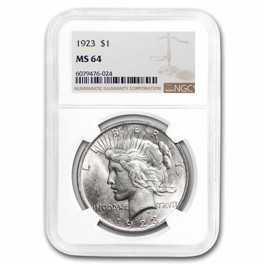 1923 Peace Dollar MS-64 NGC