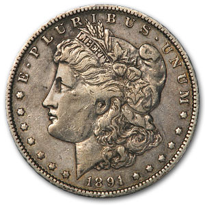 1891-O Morgan Dollar XF (VAM-1A, Clashed E Rev, Top-100)