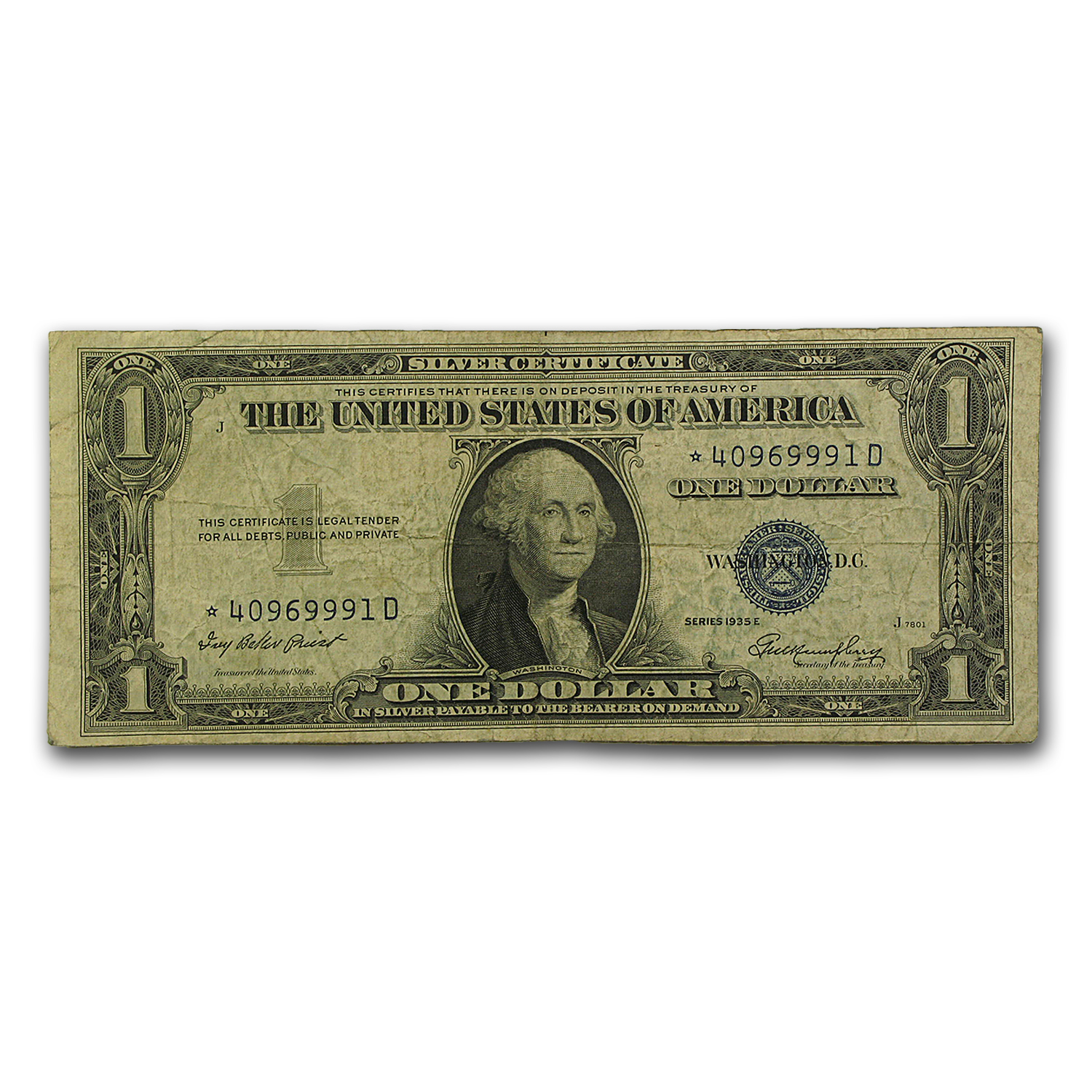 1935s* $1.00 Silver Certificates VG/VF Star Notes