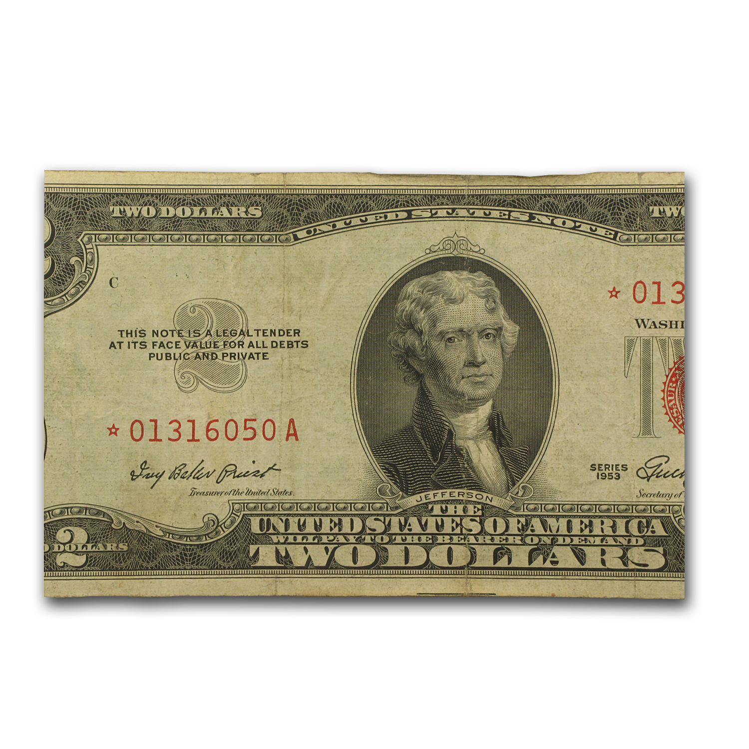 1953s * $2.00 U.S. Notes Red Seal VG/VF (Star Note)