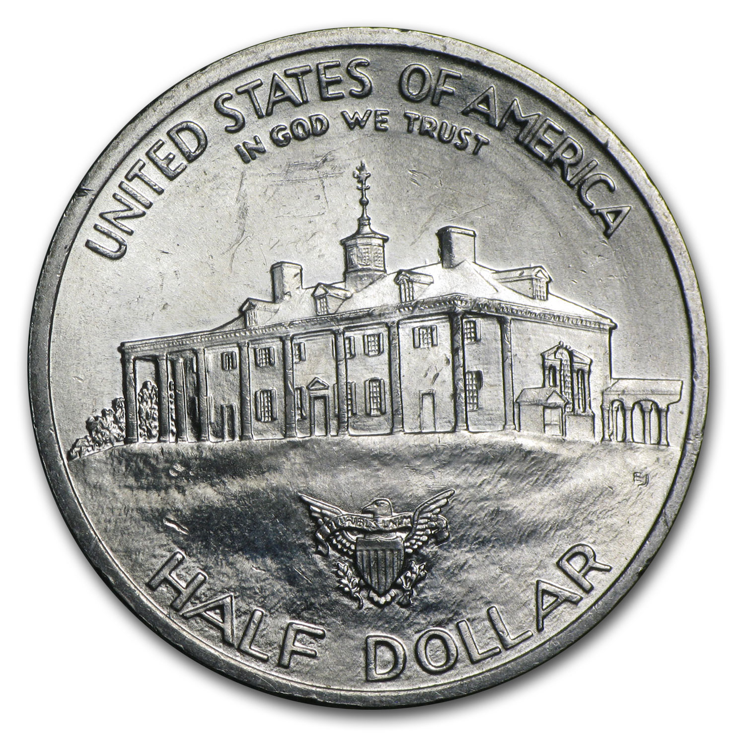 1982 Washington/1993 James Madison Halves 90% Silver (Scruffy)