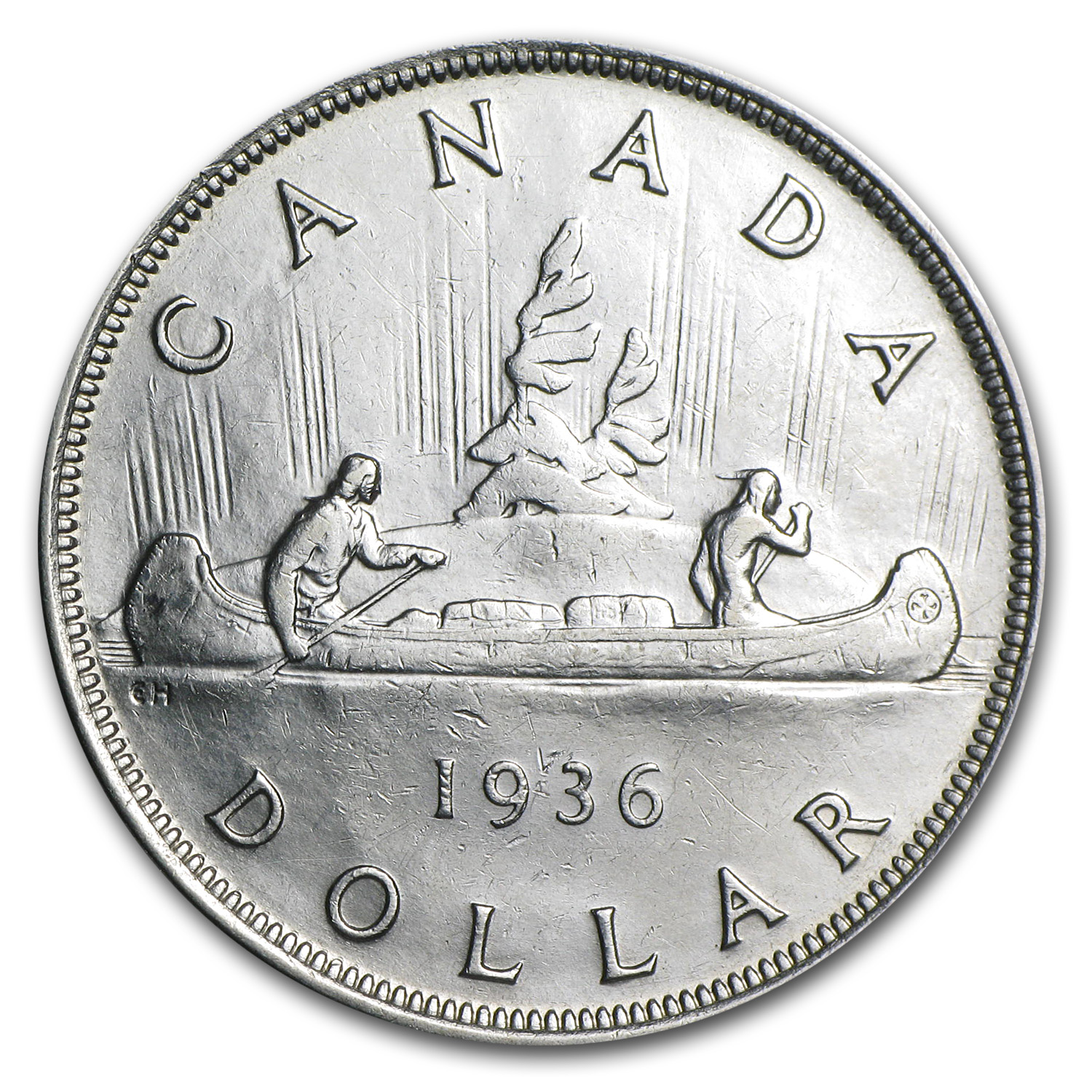 Canada 1936 1 Dollar Almost Uncirculated