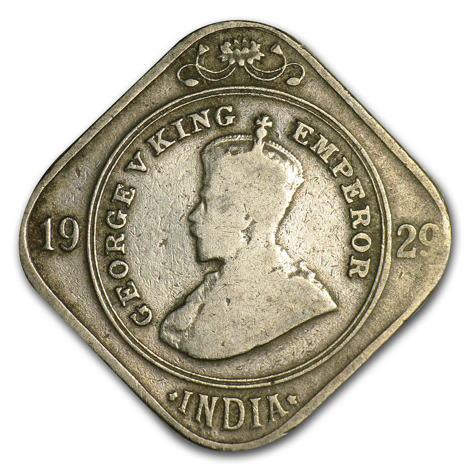 India 2 Annas of George V