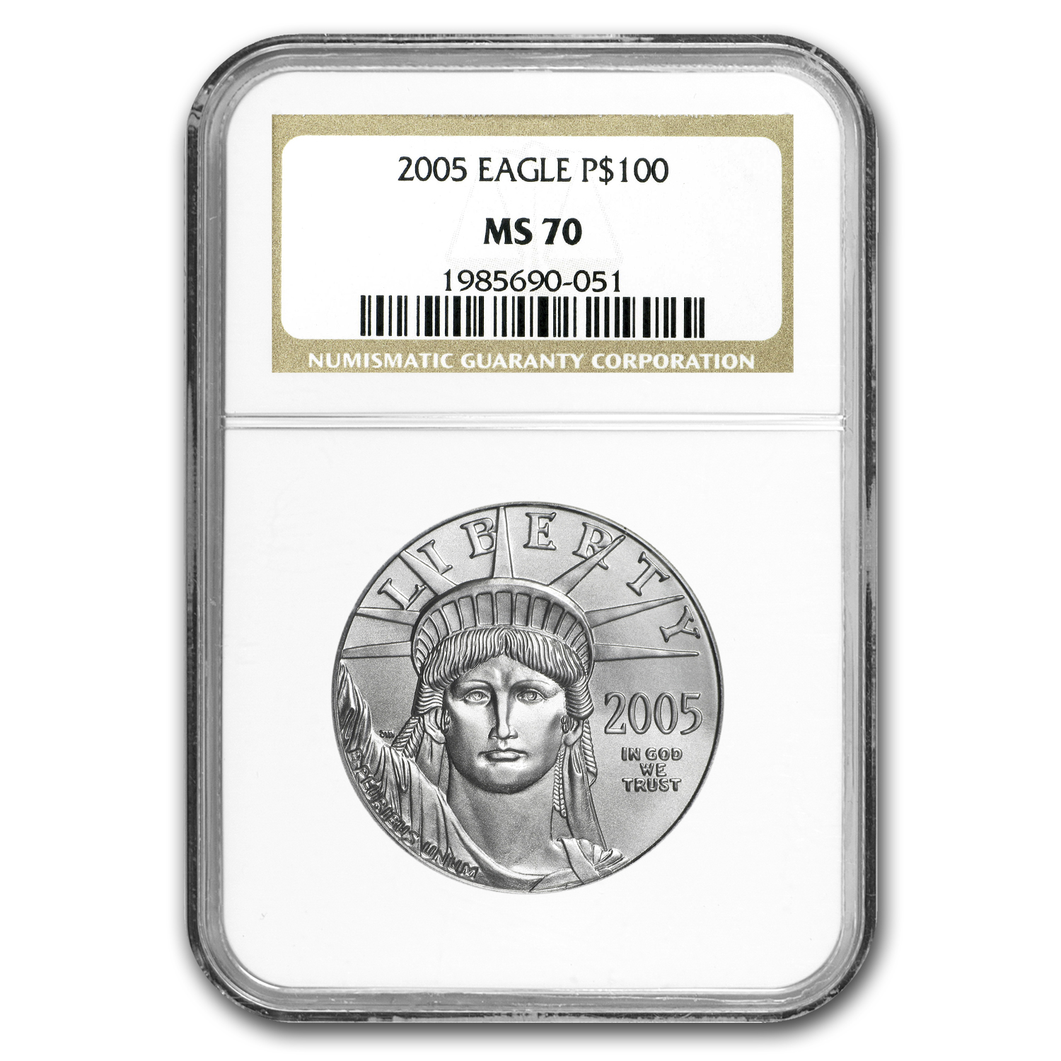 2005 1 oz Platinum American Eagle MS-70 NGC