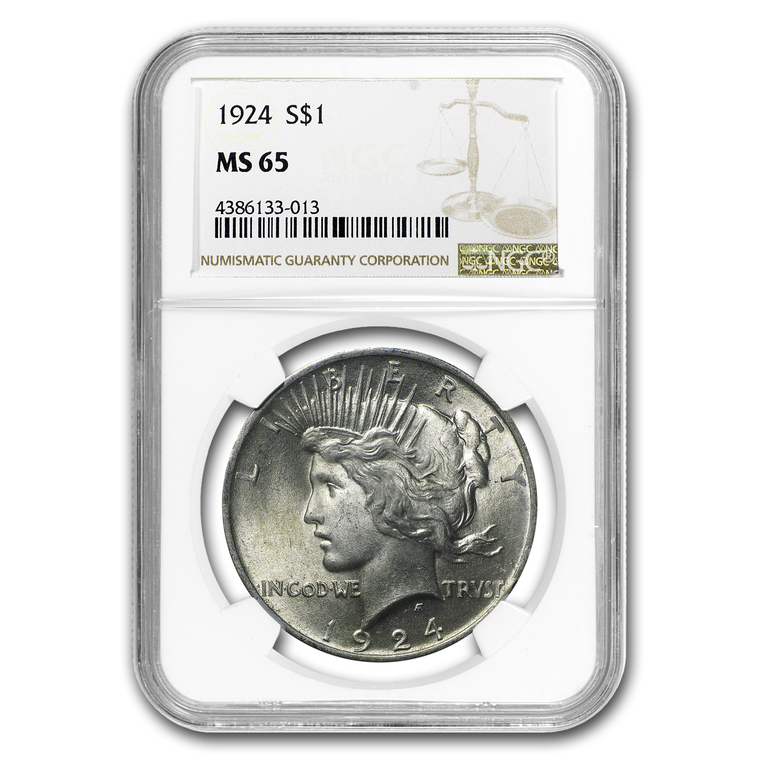 1924 Peace Dollar MS-65 NGC