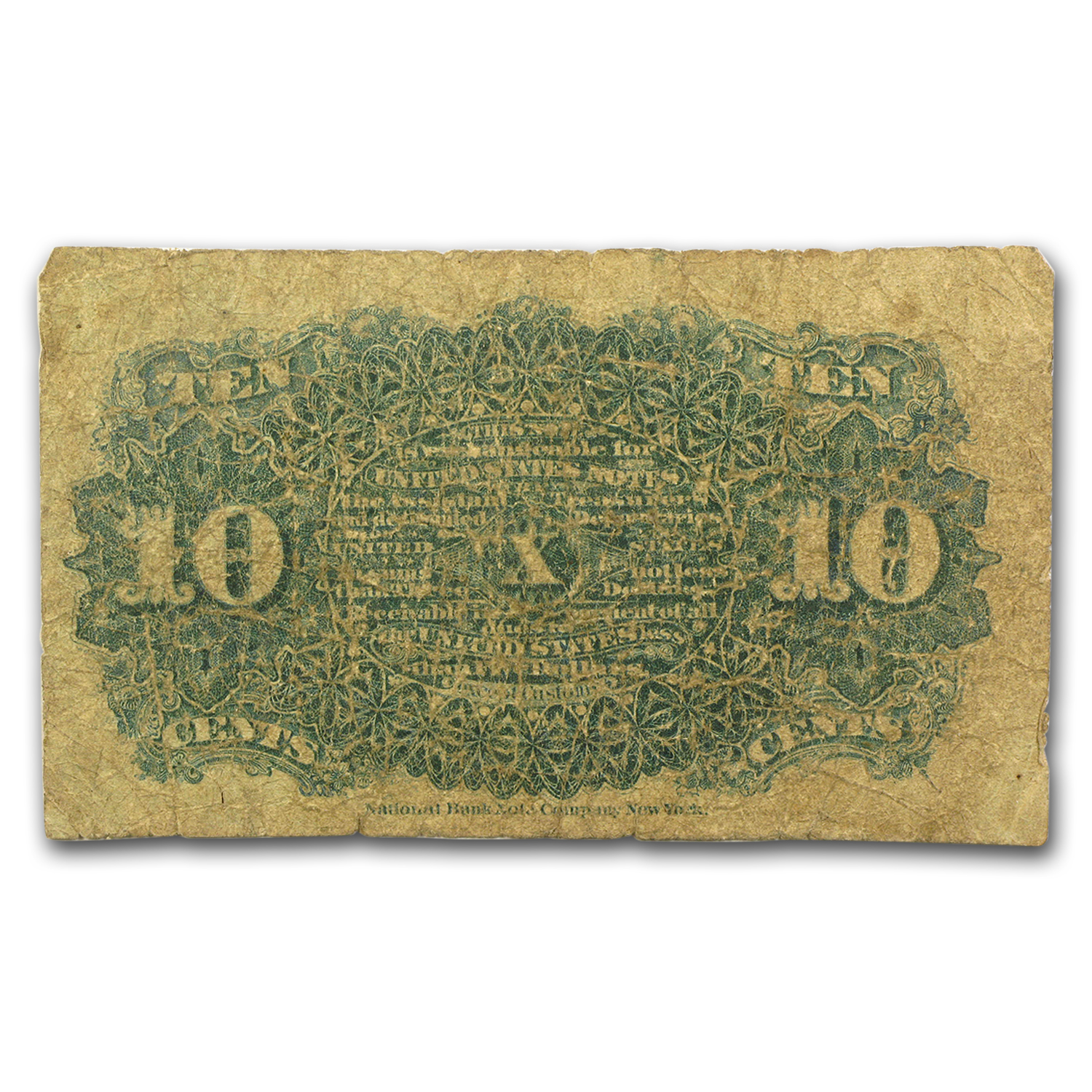 4th Issue Fractional Currency 10 Cents VG (FR#1257)