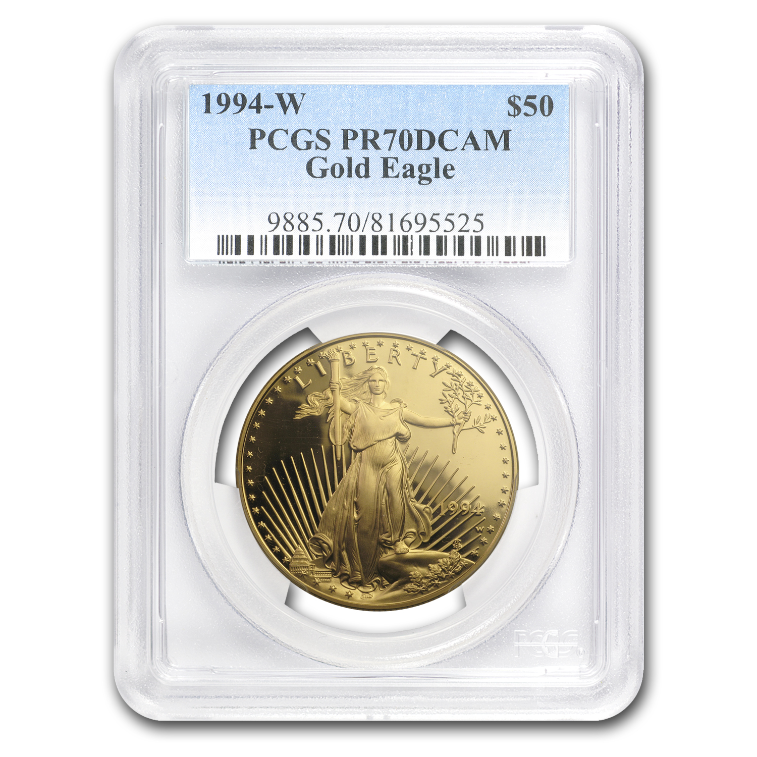 1994-W 1 oz Proof Gold American Eagle PR-70 PCGS