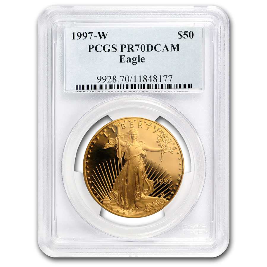 1997-W 1 oz Proof Gold American Eagle PR-70 PCGS (Registry Set)