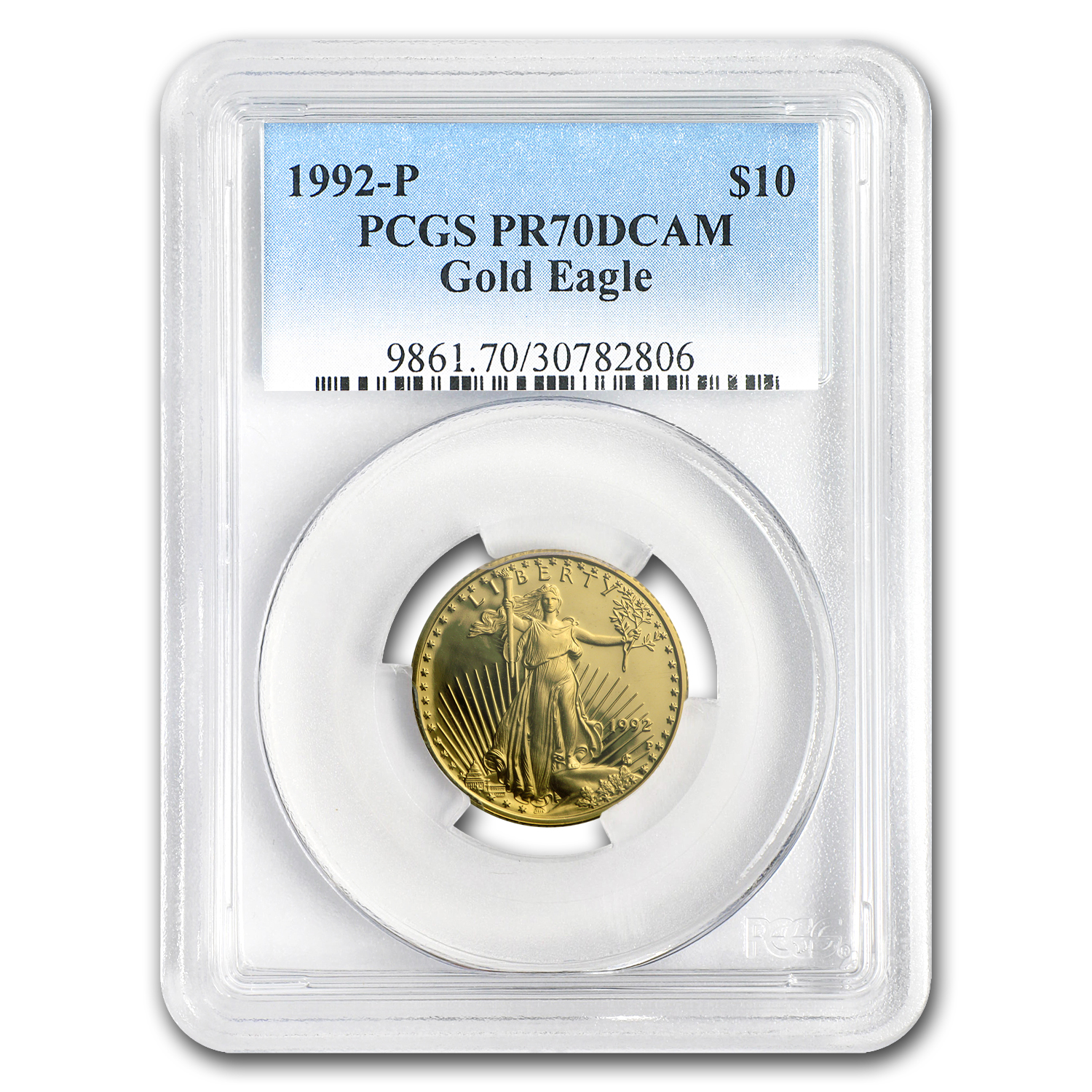 1992-P 1/4 oz Proof Gold American Eagle PR-70 PCGS