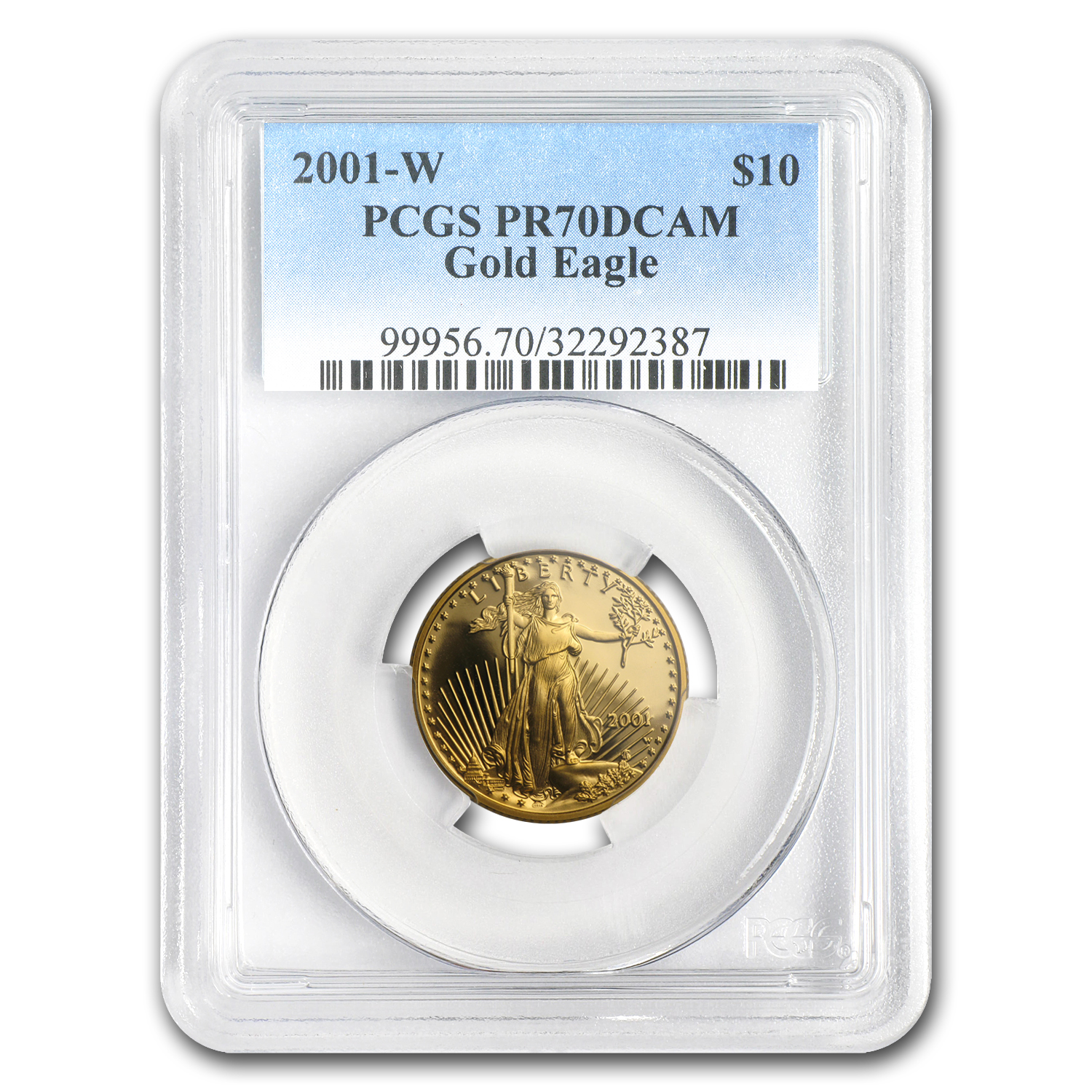 2001-W 1/4 oz Proof Gold American Eagle PR-70 PCGS (Registry Set)