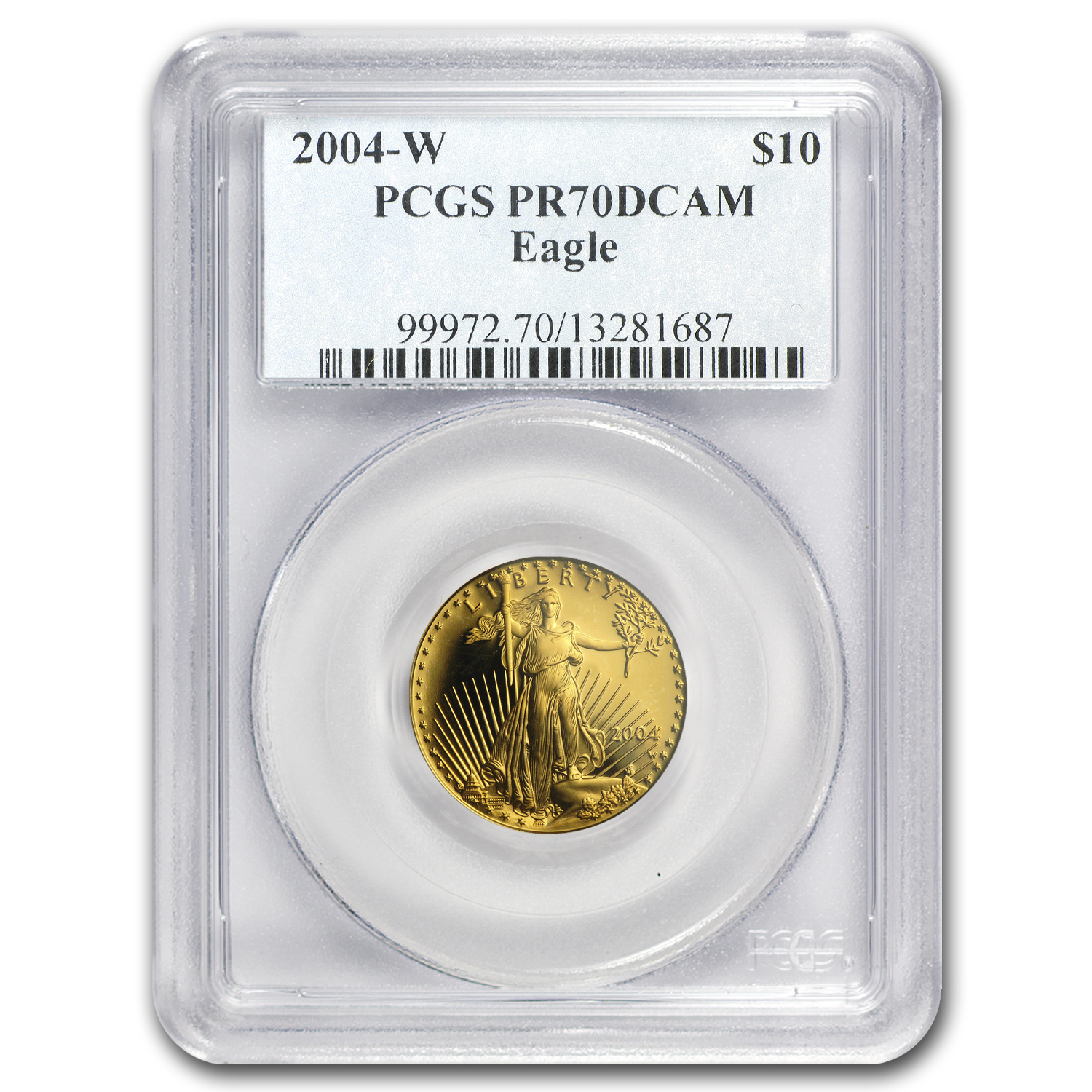 2004-W 1/4 oz Proof Gold American Eagle PR-70 PCGS
