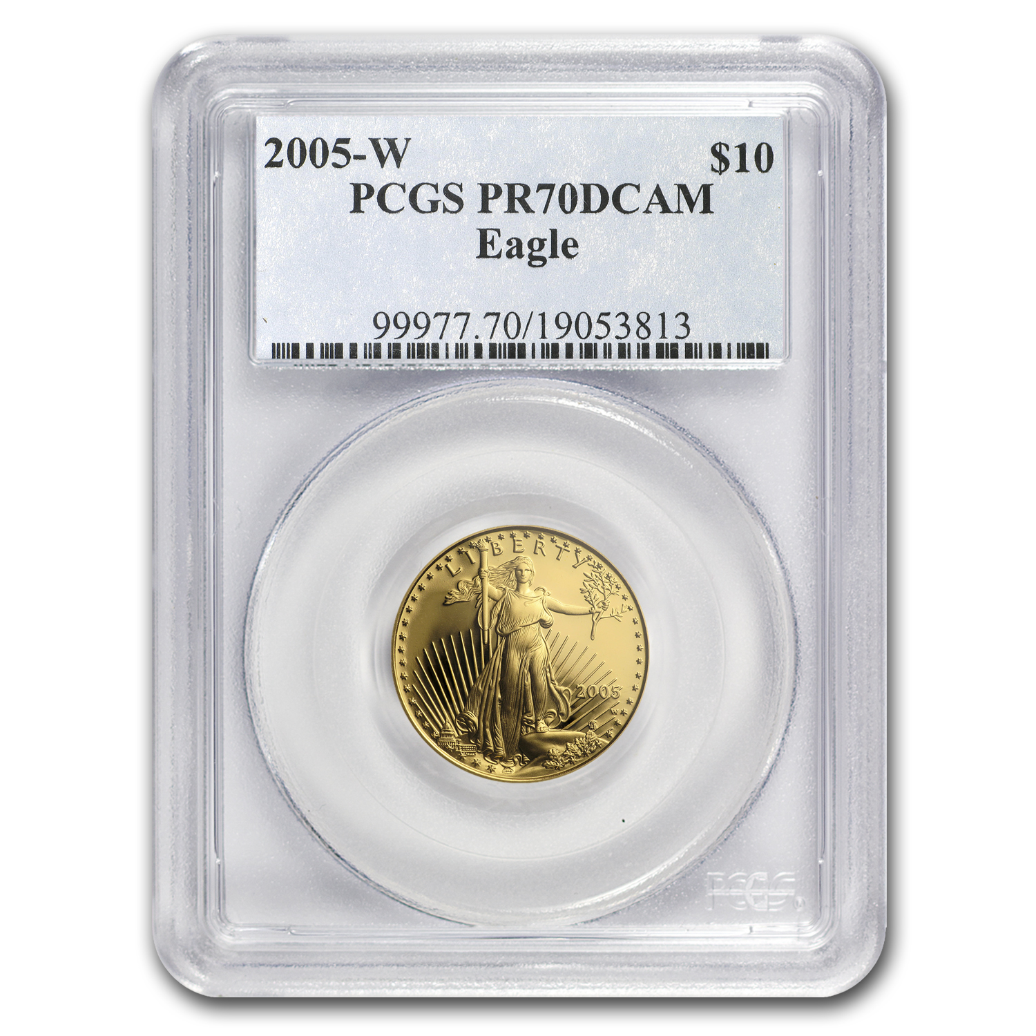 2005-W 1/4 oz Proof Gold American Eagle PR-70 PCGS