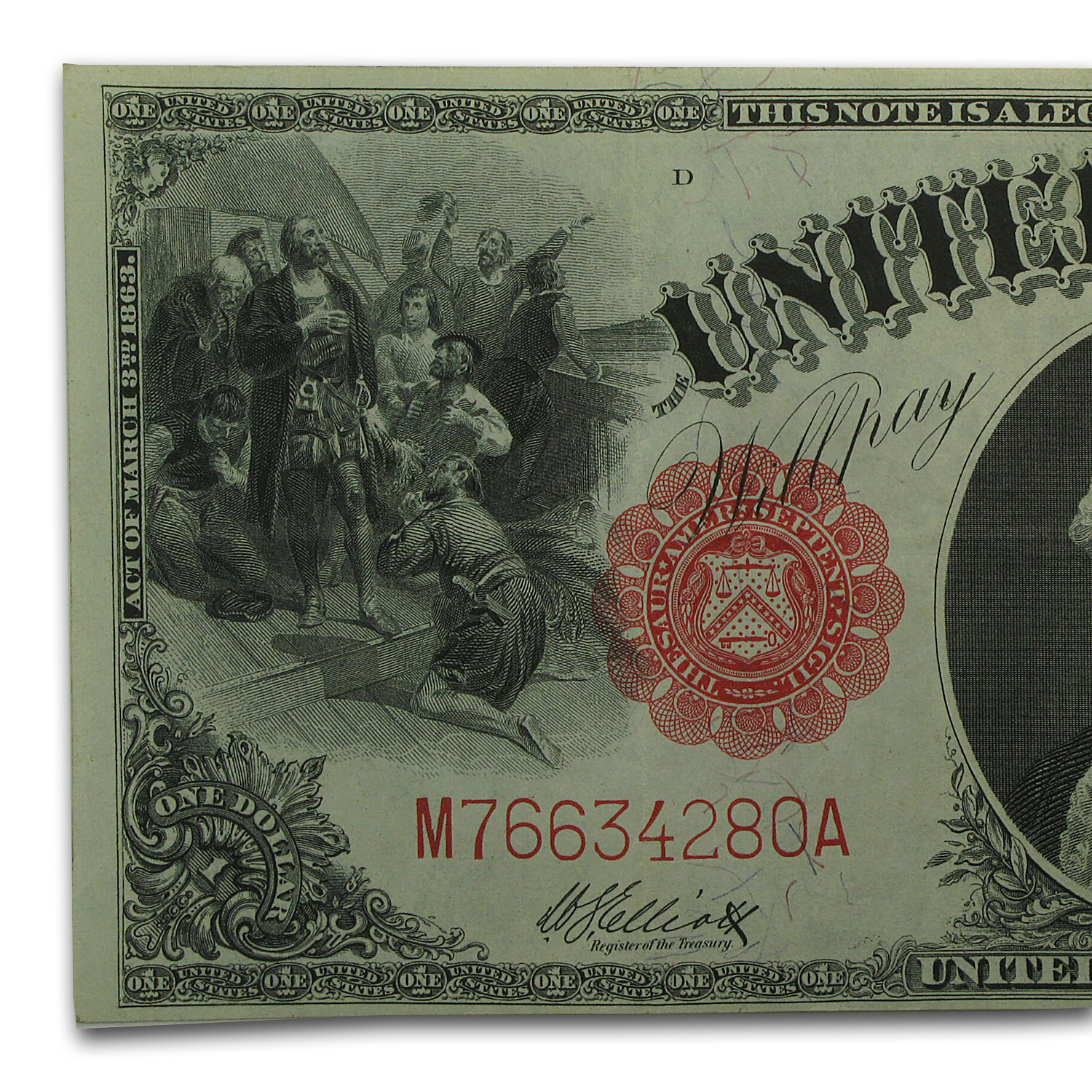 1917 $1.00 Legal Tender Washington XF
