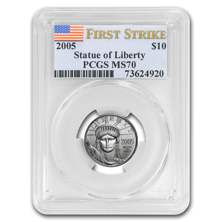 2005 1/10 oz Platinum American Eagle MS-70 PCGS (First Strike)