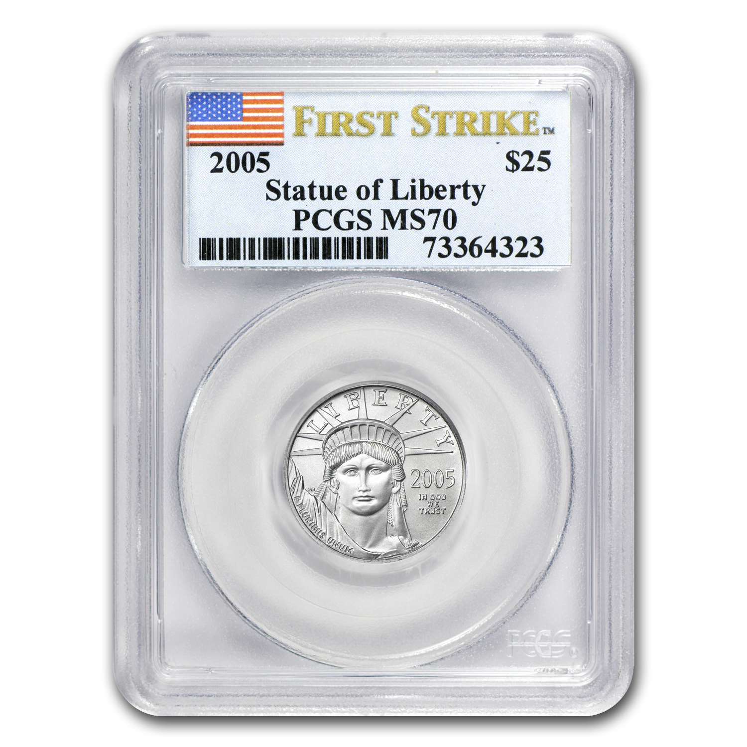 2005 1/4 oz Platinum American Eagle MS-70 PCGS (First Strike)