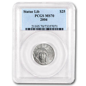 2004 1/4 oz Platinum American Eagle MS-70 PCGS