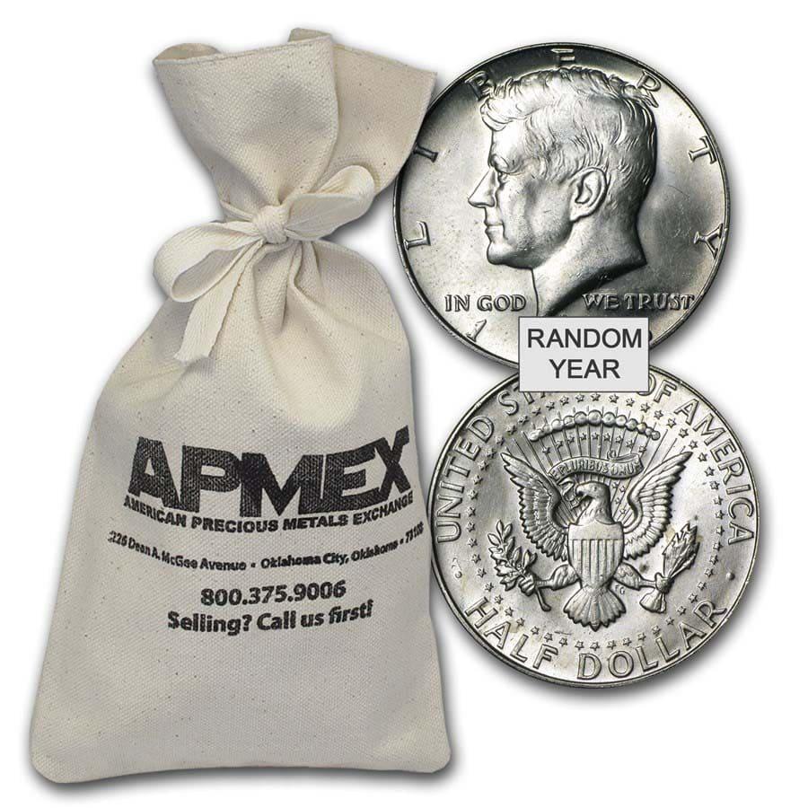 40 Silver Coins 100 Face Value Bag Average Circulated