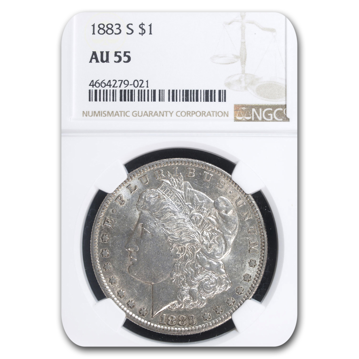 1883-S Morgan Dollar AU-55 NGC