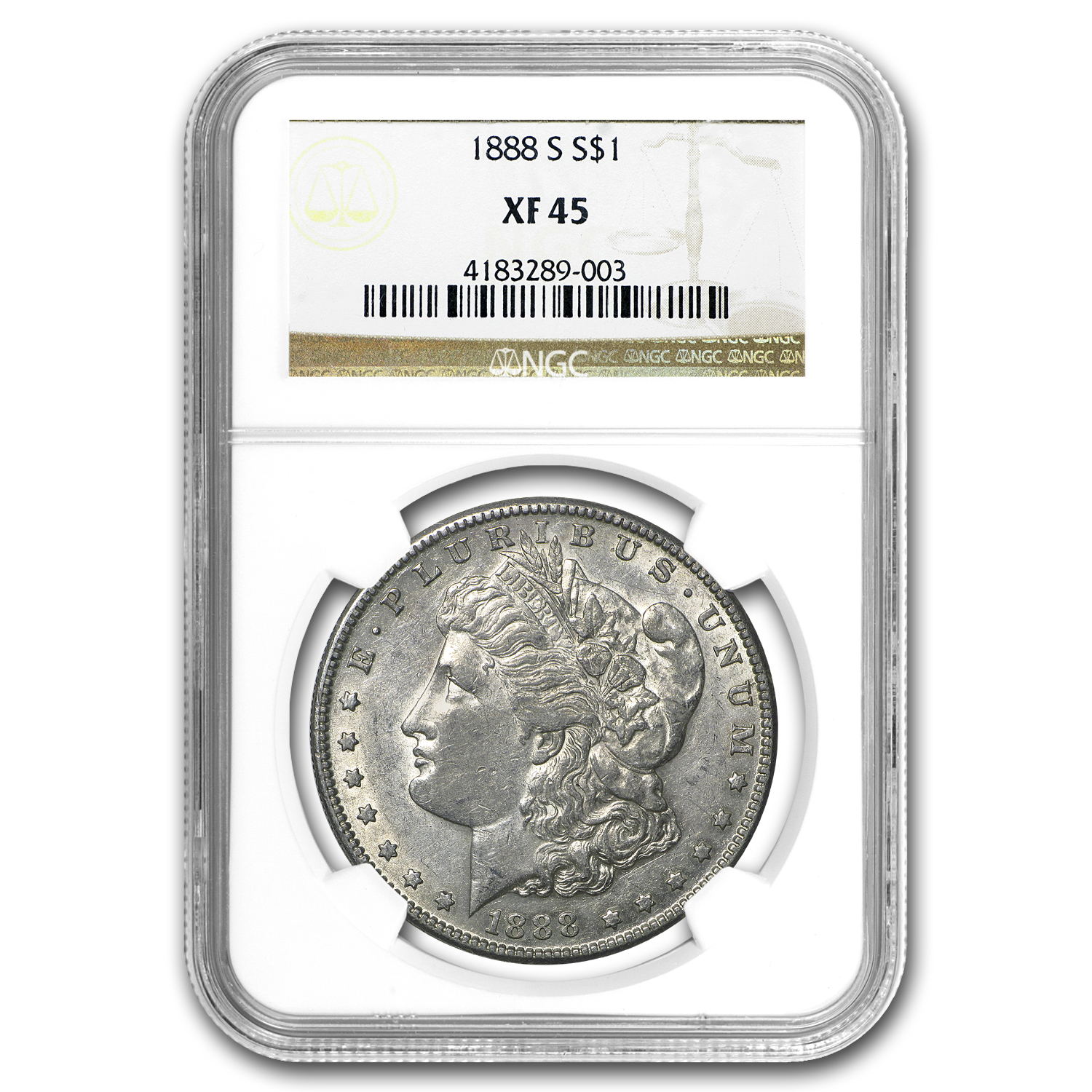 1888-S Morgan Dollar XF-45 NGC