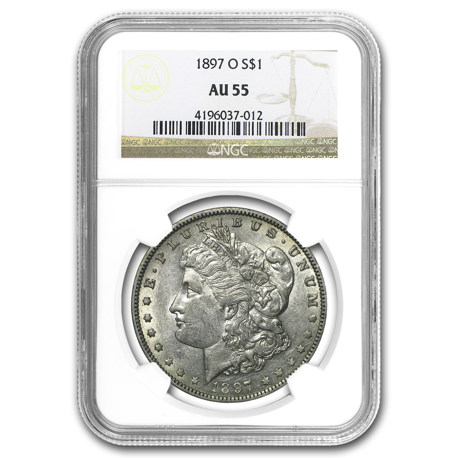 1897-O Morgan Dollar AU-55 NGC