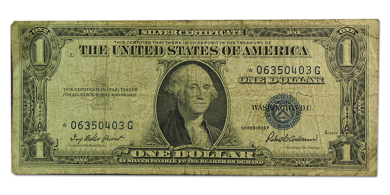 1935s* $1.00 Silver Certificates Cull/Good (Star Note)