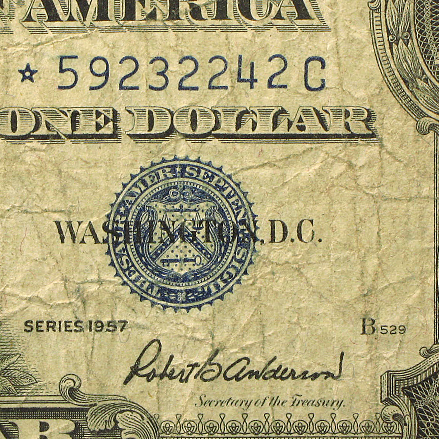 1957's* $1 Silver Certificates (Cull - Good) Star Note