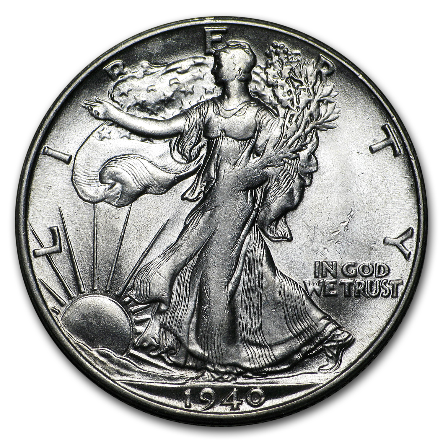 1940-S Walking Liberty Half Dollar BU