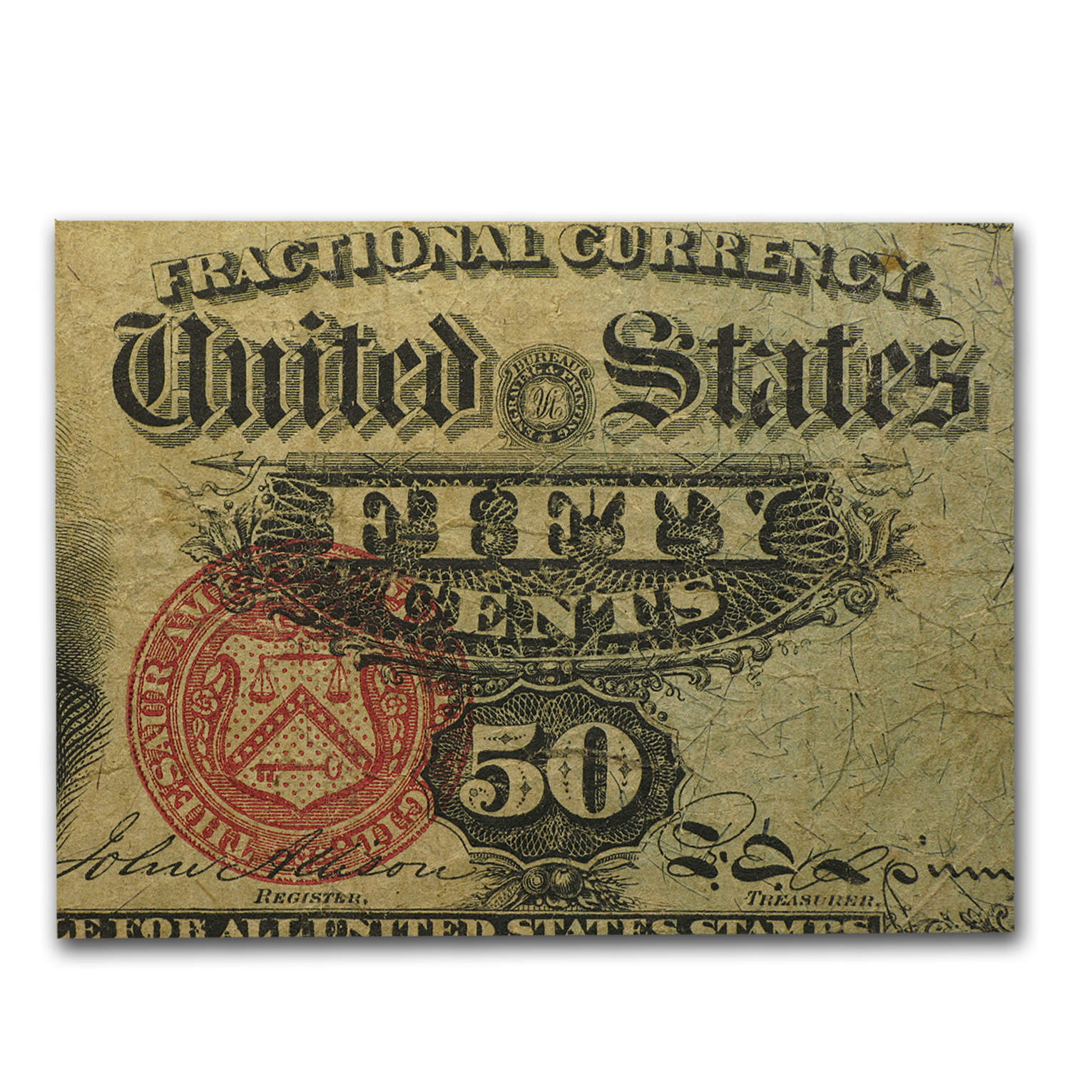 4th Issue Fractional Currency 50 Cents Stanton VF (FR#1376)