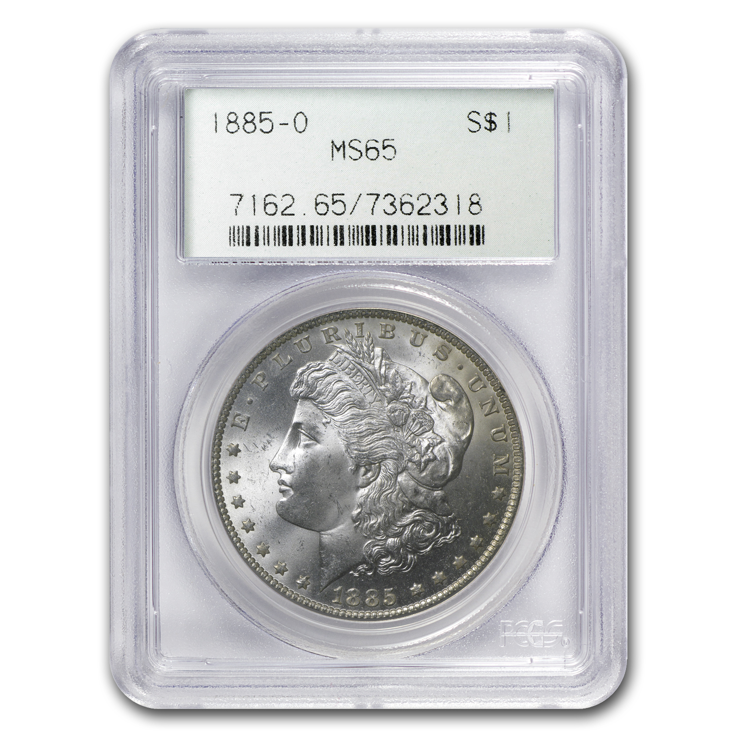 1885-O Morgan Dollar MS-65 PCGS