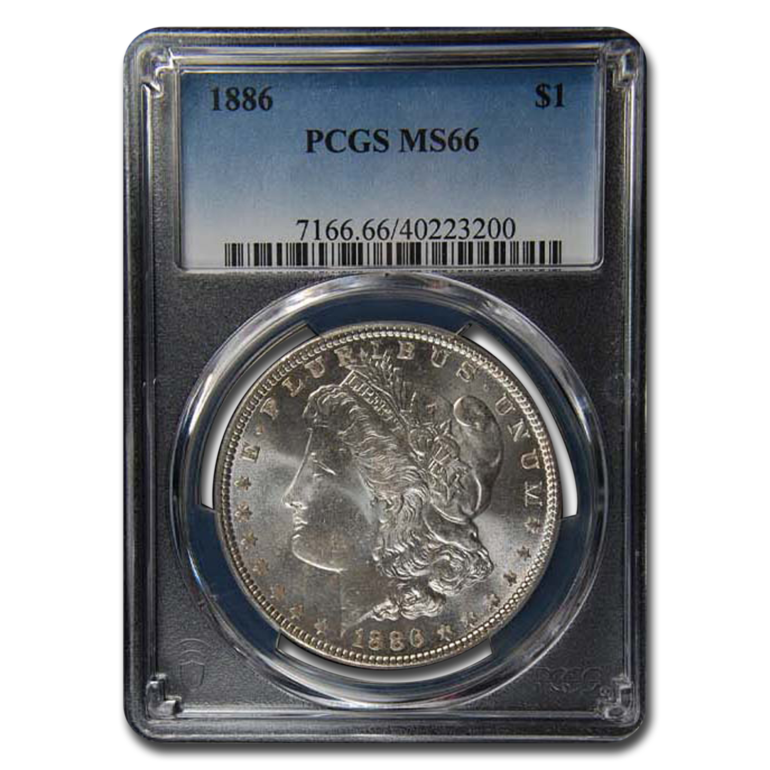 1886 Morgan Dollar MS-66 PCGS
