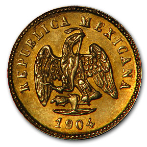 1904-Mo Mexico Gold Peso AU