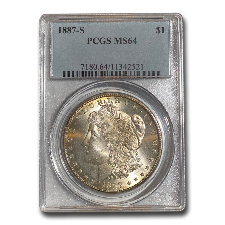 1887-S Morgan Dollar MS-64 PCGS