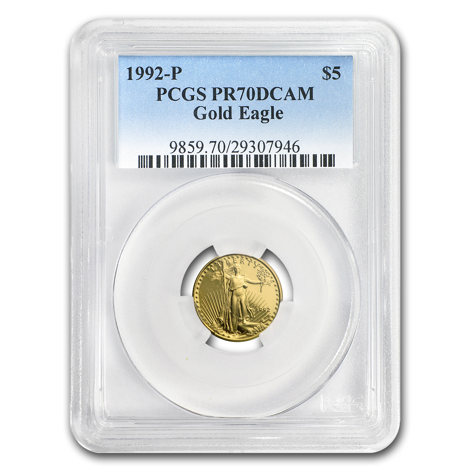 1992-P 1/10 oz Proof Gold American Eagle PR-70 PCGS