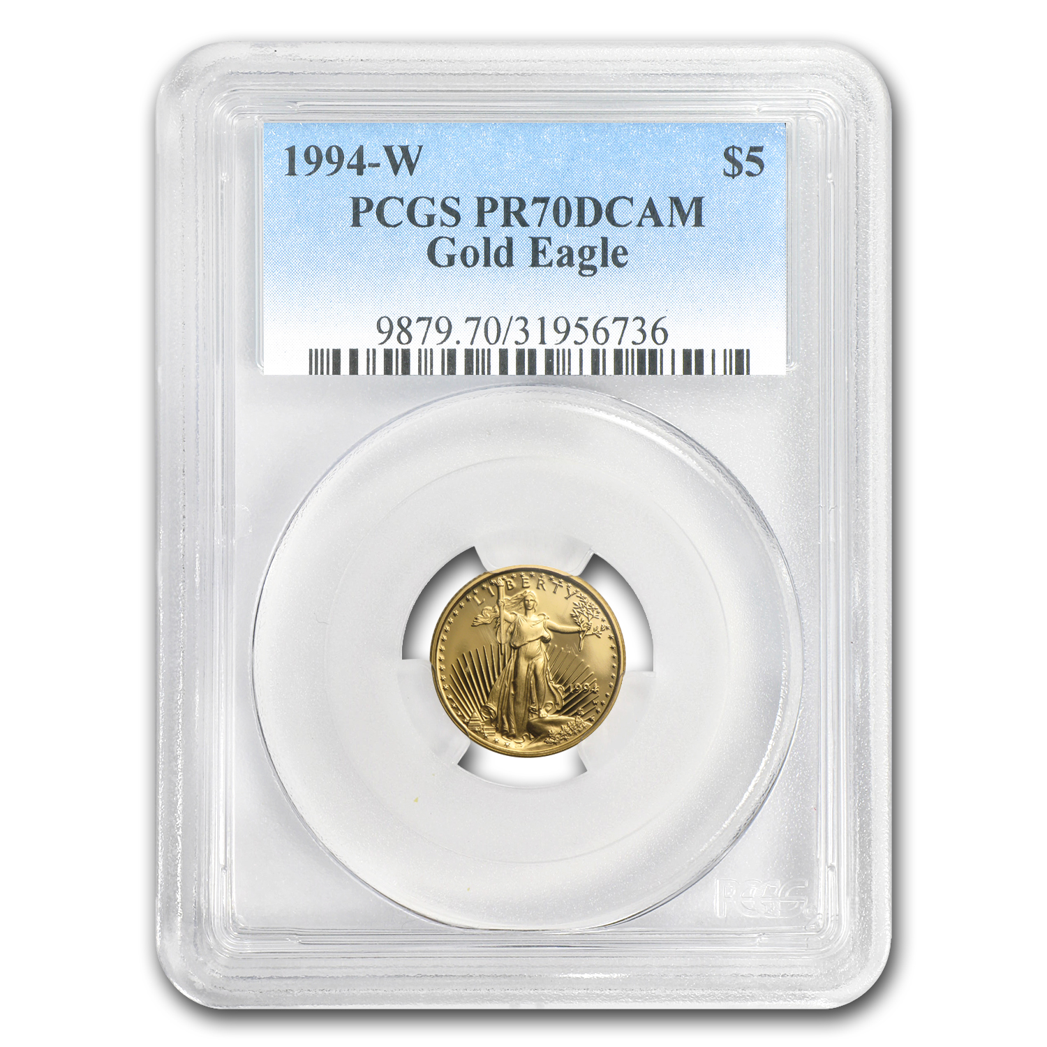 1994-W 1/10 oz Prf Gold American Eagle PR-70 PCGS (Registry Set)