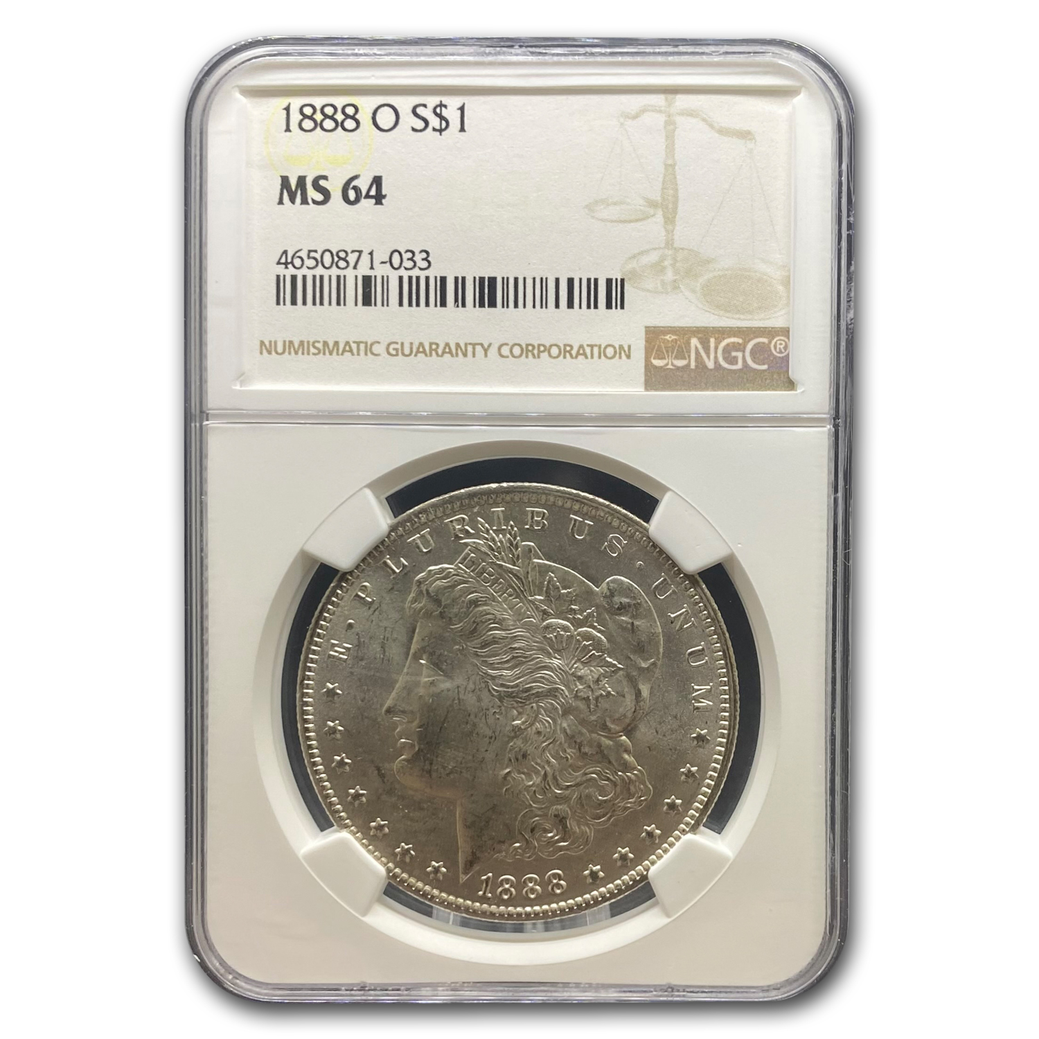 1888-O Morgan Dollar MS-64 NGC