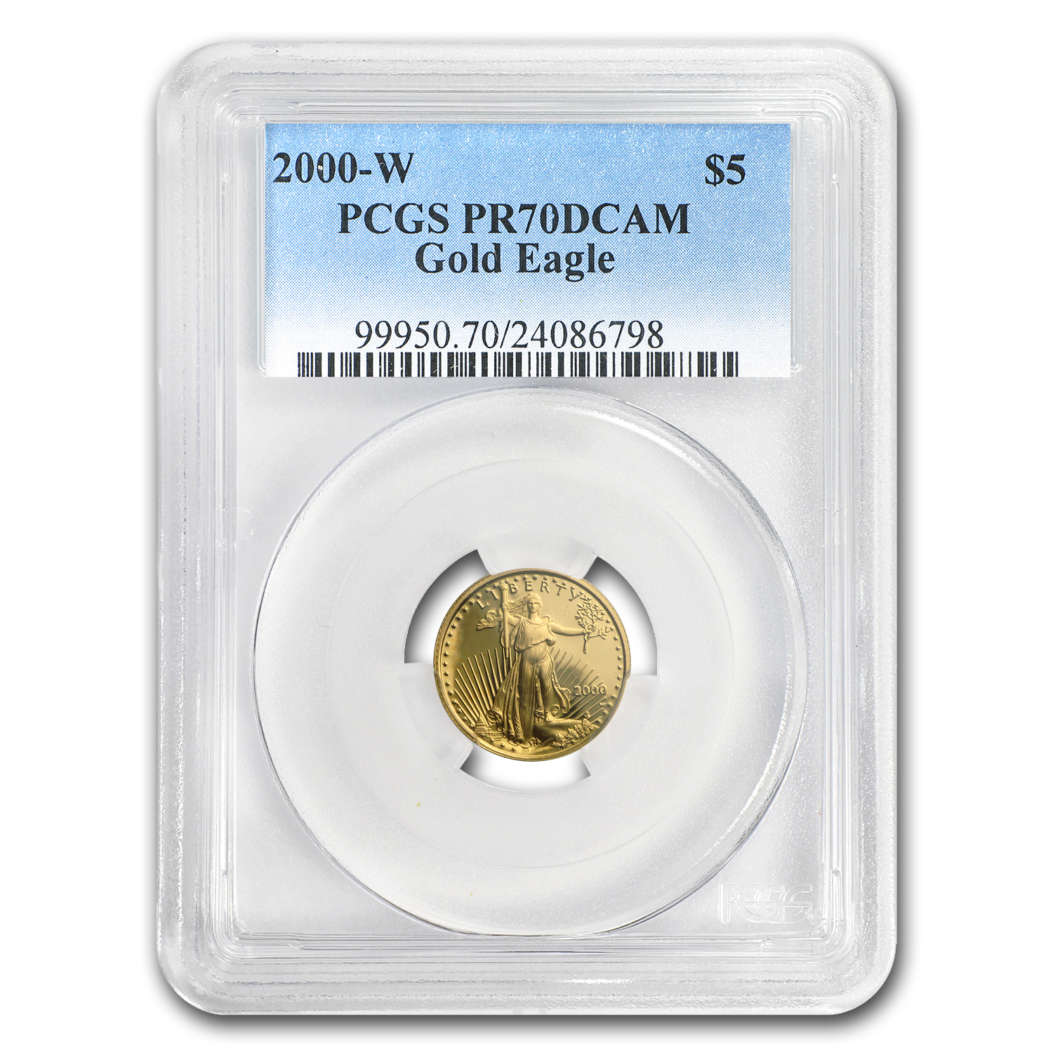 2000-W 1/10 oz Proof Gold American Eagle PR-70 PCGS