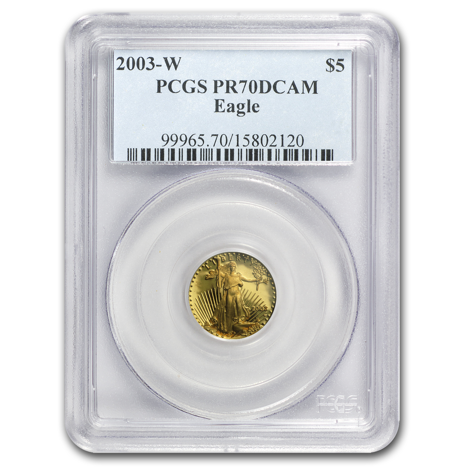 2003-W 1/10 oz Proof Gold American Eagle PR-70 PCGS