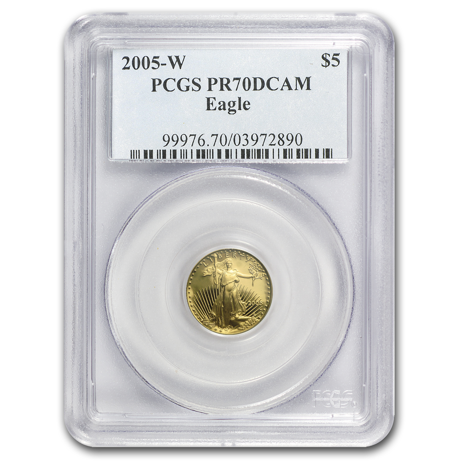 2005-W 1/10 oz Proof Gold American Eagle PR-70 PCGS