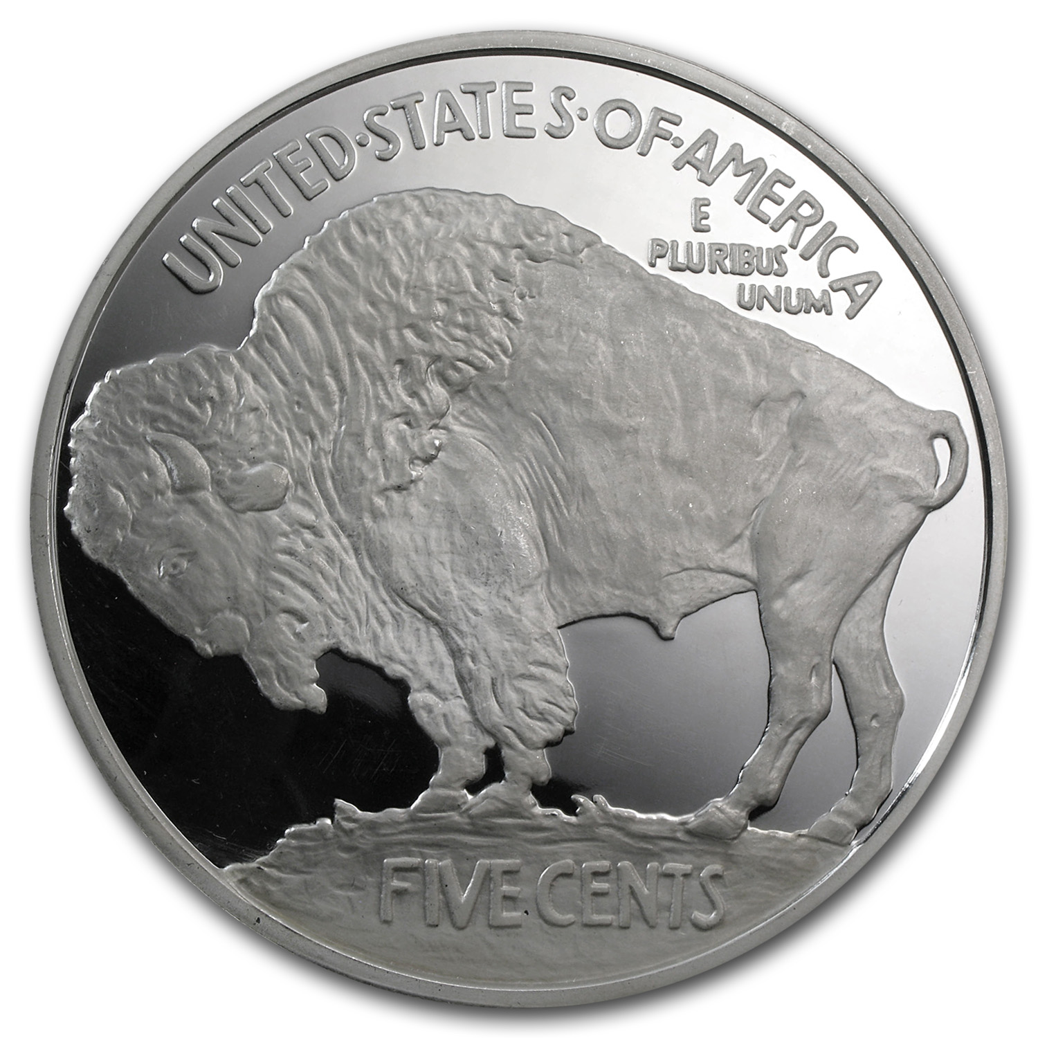 6 oz Silver Round - Buffalo Nickel (Replica)