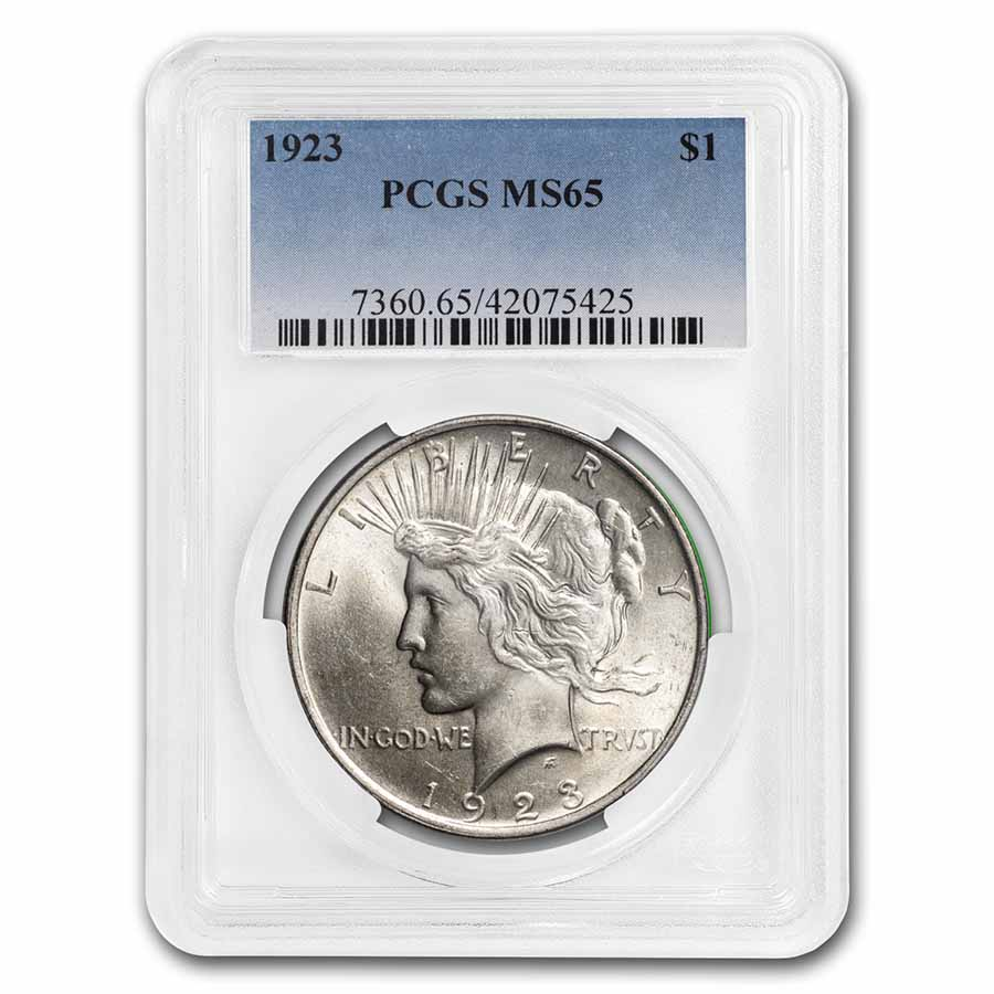 1923 Peace Dollar MS-65 PCGS
