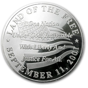 4 oz Silver Round - September 11, 2001 World Trade Center
